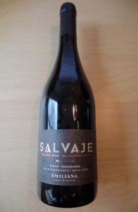 "Salvaje ""Organic wine non sulfites added - Syrah/Roussanne"" Casablanca Valley, Chili"