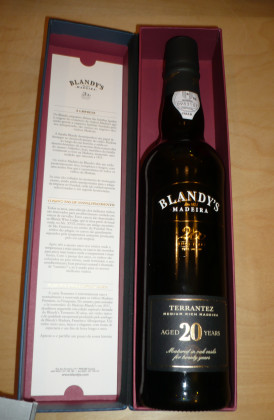 "Blandy's ""Terrantez 20 Years Old"" Medium Rich 0.50Ltr."