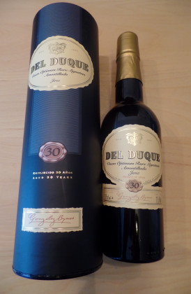 "Gonzalez Byass ""Del Duque Dry Amontillado""  30 Years Old Sherry V.O.R.S.  0.375Ltr."